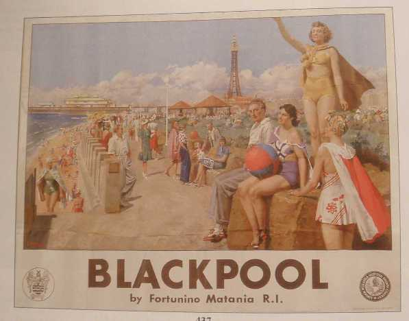 "matania , fortunino (1881-1963) lms poster ""blackpool"" realised £4,200"